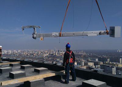 bmu install- jib crane lift