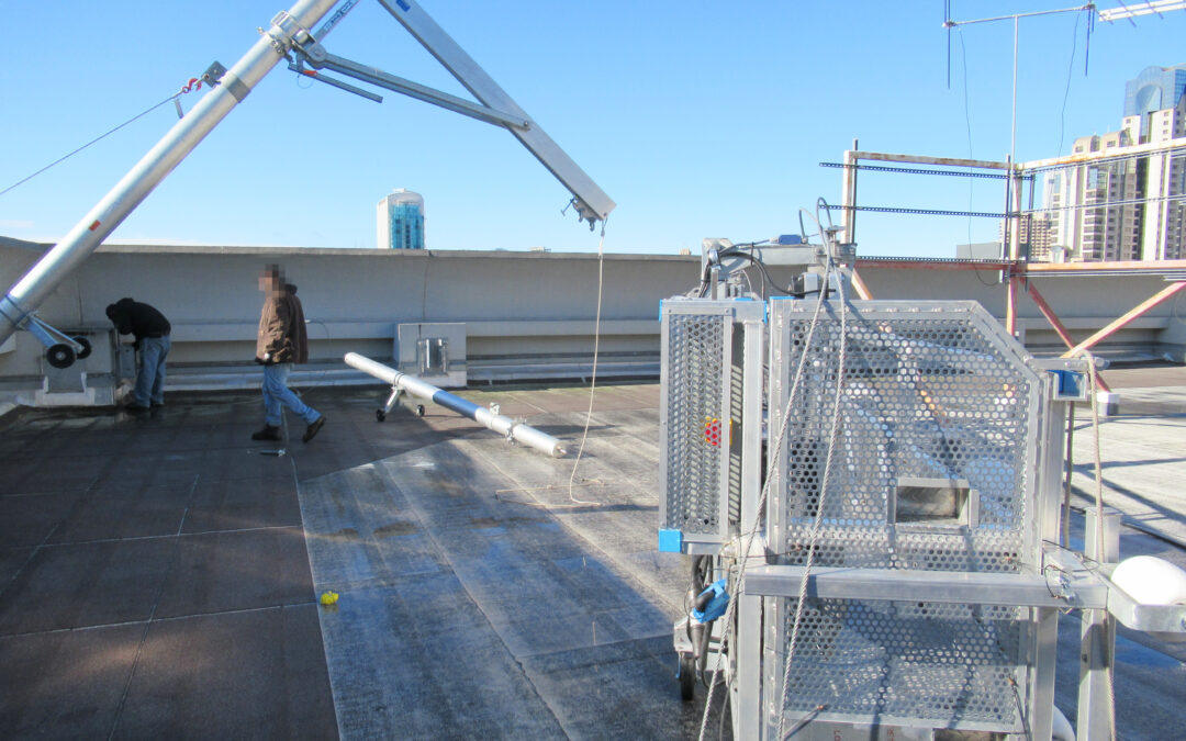 Up and Over with towering davits